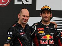 Mark Webber, Adrian Newey (Technischer Direktor, Red Bull)