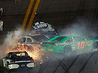 Danica Patrick, David Ragan, Jimmie Johnson