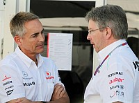 Martin Whitmarsh (Teamchef, McLaren), Ross Brawn (Mercedes-Teamchef)