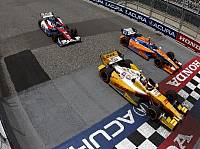 Ryan Hunter-Reay, Charlie Kimball, Mike Conway