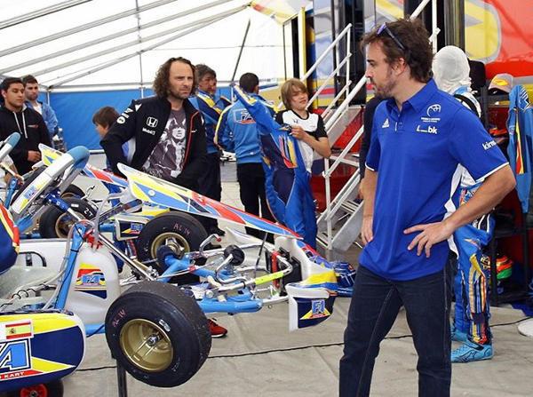 Fernando Alonso erhielt schlechte Nachrichten bezüglich seiner Kartbahn