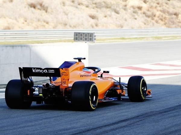 Fernando Alonso durfte die ersten Runden im McLaren MCL33 zurücklegen