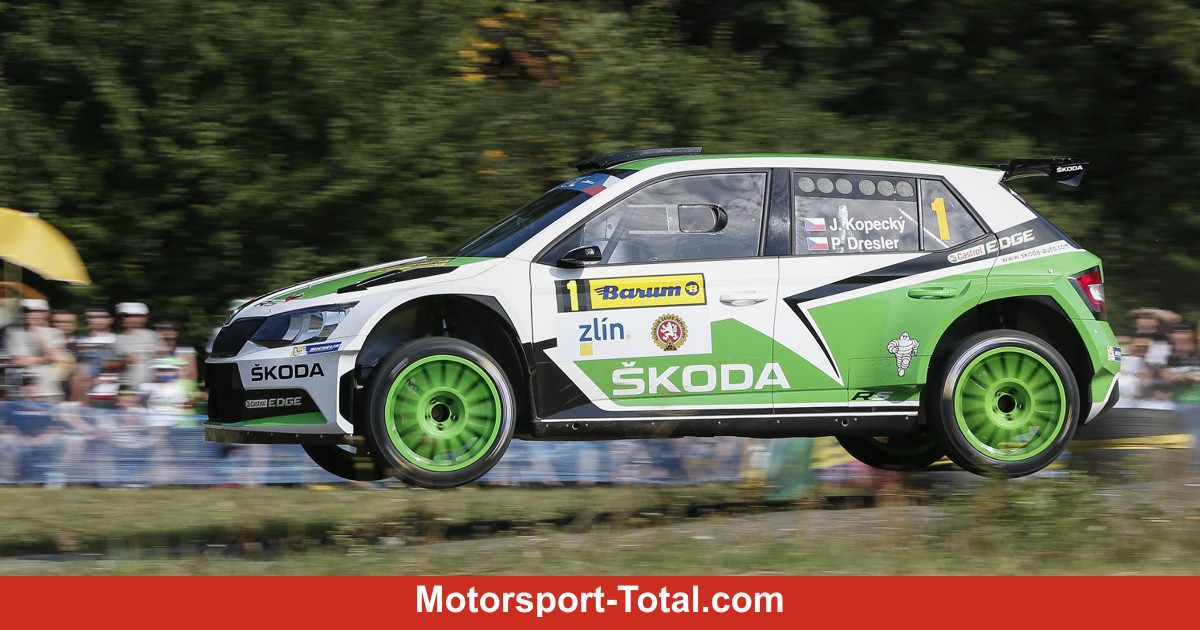 kopecky dominiert die europische elite im skoda fabia r5 rallye bei motorsport. Black Bedroom Furniture Sets. Home Design Ideas